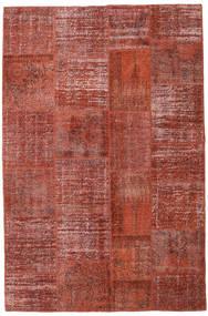 Patchwork Koberec 196X301 Moderní Ručně Tkaný Tmavě Červená/Červenožlutá (Vlna, Turecko)