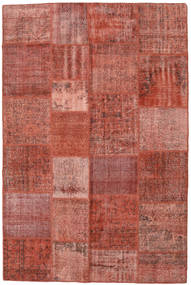 Patchwork Koberec 198X300 Moderní Ručně Tkaný Tmavě Červená/Světle Hnědá (Vlna, Turecko)