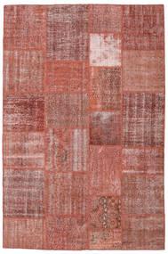 Patchwork Koberec 198X301 Moderní Ručně Tkaný Hnědá/Tmavě Červená (Vlna, Turecko)