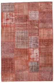 Patchwork Koberec 199X302 Moderní Ručně Tkaný Tmavě Červená/Hnědá (Vlna, Turecko)