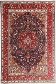 Tabriz Koberec 207X315 Orientální Ručně Tkaný Tmavě Červená/Tmavě Hnědá (Vlna, Persie/Írán)