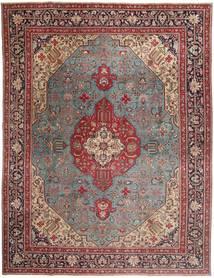 Tabriz Patina Koberec 303X400 Orientální Ručně Tkaný Tmavě Červená/Hnědá Velký (Vlna, Persie/Írán)