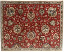 Tabriz Patina Koberec 183X230 Orientální Ručně Tkaný Tmavě Červená/Světle Hnědá (Vlna, Persie/Írán)