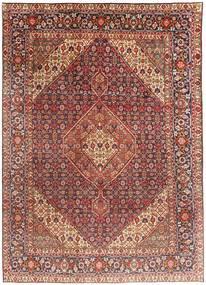 Tabriz Koberec 203X291 Orientální Ručně Tkaný Tmavě Červená/Světle Hnědá (Vlna, Persie/Írán)