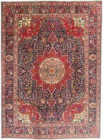 Tabriz Koberec 212X292 Orientální Ručně Tkaný Tmavě Červená/Tmavě Hnědá (Vlna, Persie/Írán)