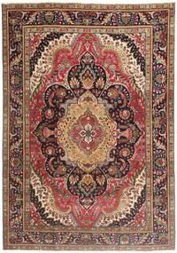 Tabriz Patina Koberec 210X297 Orientální Ručně Tkaný Tmavě Červená/Tmavě Hnědá/Hnědá (Vlna, Persie/Írán)