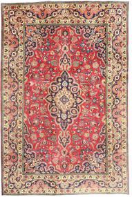 Tabriz Koberec 194X290 Orientální Ručně Tkaný Červenožlutá/Tmavošedý (Vlna, Persie/Írán)