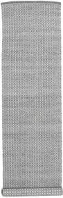 Alva - Tmavošedý/White Koberec 80X350 Moderní Ruční Tkaní Běhoun Světle Šedá/Tmavošedý (Vlna, Indie)