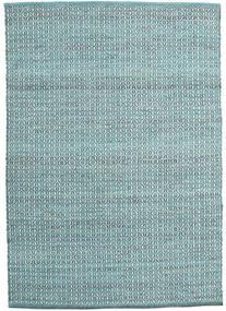 Alva - Turquoise/White Koberec 140X200 Moderní Ruční Tkaní Světle Modrý/Tyrkysově Modré (Vlna, Indie)