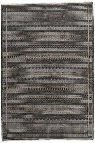 Kelim Perské Koberec 160X230 Orientální Ruční Tkaní Tmavošedý/Černá/Světle Šedá (Vlna, Persie/Írán)