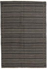 Kelim Perské Koberec 160X230 Orientální Ruční Tkaní Tmavošedý/Černá (Vlna, Persie/Írán)
