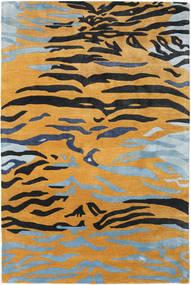 Love Tiger - Oranžová/Šedá Koberec 200X300 Moderní Světle Hnědá/Černá ( Indie)