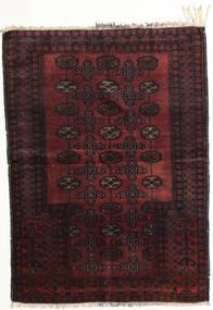 Afghán Khal Mohammadi Koberec 95X129 Orientální Ručně Tkaný Tmavě Hnědá/Tmavě Červená (Vlna, Afghánistán)