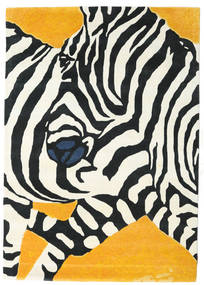 Zebra - 2018 Koberec 160X230 Moderní Béžová/Černá (Vlna, Indie)
