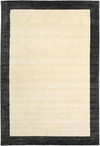 Handloom Frame - Černá/White Koberec 200X300 Moderní Béžová/Tmavošedý (Vlna, Indie)