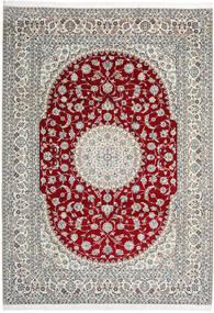 Nain 9La Koberec 246X345 Orientální Ručně Tkaný Světle Šedá/Béžová (Vlna/Hedvábí, Persie/Írán)