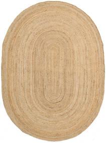 Venkovní Koberec Frida Oval - Natural Koberec 160X230 Moderní Ruční Tkaní Tmavá Béžová/Béžová (Jutové Koberečky Indie)