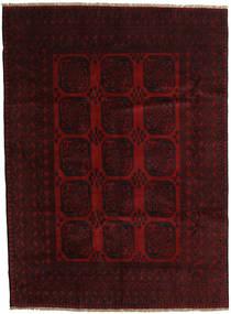 Afghán Koberec 203X279 Orientální Ručně Tkaný Tmavě Hnědá/Tmavě Červená (Vlna, Afghánistán)