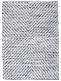 Hilda - Denim/White Koberec 140X200 Moderní Ruční Tkaní Béžová/Světle Modrý (Bavlna, Indie)