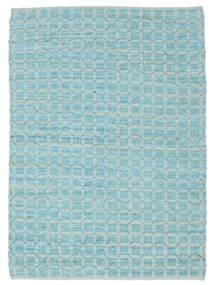 Elna - Bright_Blue Koberec 140X200 Moderní Ruční Tkaní Světle Modrý/Tyrkysově Modré (Bavlna, Indie)