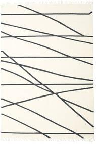 Cross Lines - Bělavý/Černá Koberec 250X350 Moderní Ruční Tkaní Béžová/Bílý/Krém Velký (Vlna, Indie)