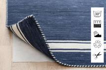 Anti Slip, Non-Woven Koberec 240X340 Moderní Modrá/Světle Šedá ( Belgie)
