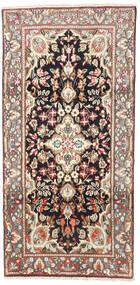 Kerman Koberec 95X190 Orientální Ručně Tkaný Světle Hnědá/Béžová (Vlna, Persie/Írán)