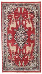 Mašhad Patina Koberec 104X182 Orientální Ručně Tkaný Červená/Tmavošedý (Vlna, Persie/Írán)