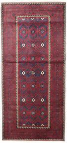 Beluch Patina Koberec 116X252 Orientální Ručně Tkaný Tmavošedý/Červená (Vlna, Persie/Írán)