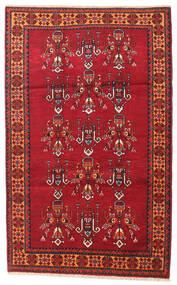 Beluch Koberec 108X170 Orientální Ručně Tkaný Tmavě Červená/Červená (Vlna, Persie/Írán)