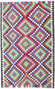 Kelim Fars Koberec 200X315 Orientální Ruční Tkaní Béžová/Růžová (Vlna, Persie/Írán)