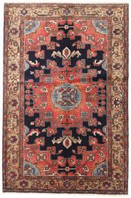 Hamedan Koberec 135X200 Orientální Ručně Tkaný Tmavě Červená/Tmavě Hnědá (Vlna, Persie/Írán)