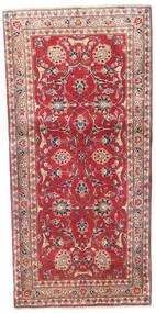 Kashmar Koberec 88X185 Orientální Ručně Tkaný Běhoun Červená/Tmavě Hnědá (Vlna, Persie/Írán)