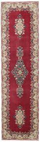 Kerman Patina Koberec 90X325 Orientální Ručně Tkaný Běhoun Tmavě Červená/Béžová (Vlna, Persie/Írán)