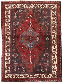 Shiraz Koberec 115X154 Orientální Ručně Tkaný Tmavě Červená/Tmavě Hnědá (Vlna, Persie/Írán)