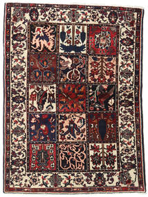 Bakhtiar Koberec 110X151 Orientální Ručně Tkaný Tmavě Hnědá (Vlna, Persie/Írán)