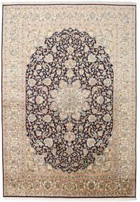 Kashmir Čistá Hedvábí Koberec 169X244 Orientální Ručně Tkaný Béžová/Tmavošedý (Hedvábí, Indie)
