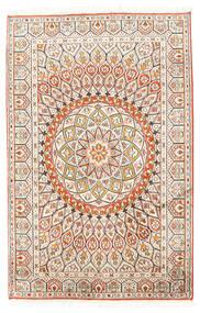 Kashmir Čistá Hedvábí Koberec 80X124 Orientální Ručně Tkaný Béžová/Světle Šedá (Hedvábí, Indie)