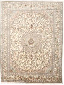 Kashmir Čistá Hedvábí Koberec 243X319 Orientální Ručně Tkaný Světle Šedá/Béžová (Hedvábí, Indie)