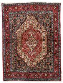 Senneh Koberec 122X164 Orientální Ručně Tkaný Tmavě Červená/Tmavošedý (Vlna, Persie/Írán)
