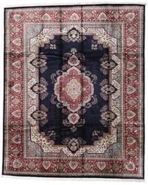 Kashmir Art. Hedvábí Koberec 246X300 Orientální Ručně Tkaný Černá/Světle Šedá ( Indie)