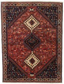 Yalameh Koberec 155X201 Orientální Ručně Tkaný Tmavě Červená/Černá (Vlna, Persie/Írán)
