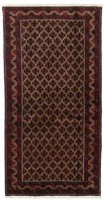 Beluch Koberec 96X188 Orientální Ručně Tkaný Tmavě Červená/Tmavě Hnědá (Vlna, Persie/Írán)