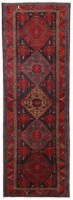 Hamedan Koberec 104X309 Orientální Ručně Tkaný Běhoun Tmavě Červená/Černá (Vlna, Persie/Írán)