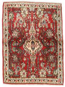 Senneh Koberec 107X150 Orientální Ručně Tkaný Tmavě Hnědá/Červenožlutá (Vlna, Persie/Írán)