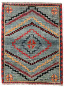 Gabbeh Rustic Koberec 112X148 Moderní Ručně Tkaný Světle Šedá/Zelená (Vlna, Persie/Írán)