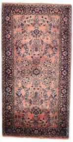 Sarough Koberec 58X112 Orientální Ručně Tkaný Tmavě Hnědá (Vlna, Persie/Írán)