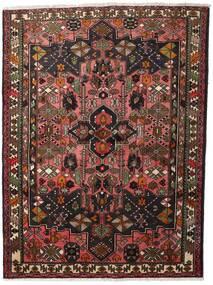 Hamedan Koberec 150X200 Orientální Ručně Tkaný Tmavě Červená/Tmavě Hnědá (Vlna, Persie/Írán)