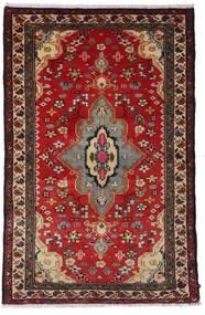 Hamedan Koberec 79X121 Orientální Ručně Tkaný Tmavě Červená/Tmavě Hnědá (Vlna, Persie/Írán)