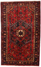 Hamedan Koberec 136X218 Orientální Ručně Tkaný Tmavě Červená/Černá (Vlna, Persie/Írán)
